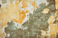 Retro- Hintergrund des Schmutzes der alten Betonmauer mit abgetrennter Farbe Stockfotografie