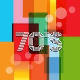 Retro- Hintergrund des Vektor-70s Lizenzfreie Stockfotos
