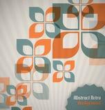 Retro- Hintergrund mit abstrakten Formen Stockbilder