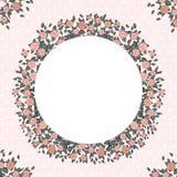 Retro- Hintergrund mit rosa Rosen Lizenzfreie Stockfotos