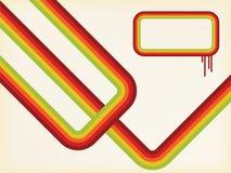Retro- Hintergrund mit Streifen Lizenzfreies Stockbild