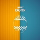 Retro- Hintergrund Ostern mit abstraktem Ei Symbol Lizenzfreie Stockfotografie