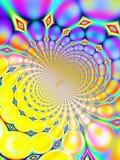 Retro- Hintergrund (Purpur und Y lizenzfreie abbildung
