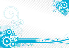 Retro- Hintergrundmit blumenvektor stock abbildung