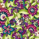 Retro- Hintergrundmuster der nahtlosen Blume im Vektor Stockbilder