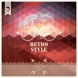 Retro- Hippie-Aufkleber der Weinlese, Typografie, geometrisches Design Lizenzfreies Stockfoto