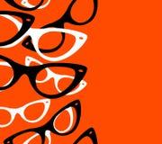 Retro- Hippie-Sonnenbrille des Musters Stockfotografie