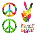 Retro hippie symbol Stock Photo