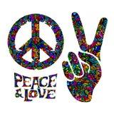 Retro hippie symbol Stock Images