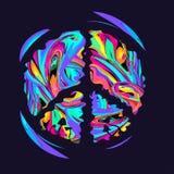 Retro hippiesymbol vektor illustrationer