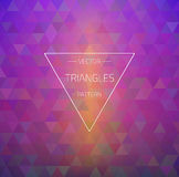 Retro Hipster Geometric Triangles Pattern Texture Royalty Free Stock Photo