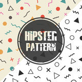 Retro hipster pattern Royalty Free Stock Image