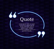 Retro Hipster Quote VECTOR Frame Template, Brick Wall Background and Shine Quote Box. Text Template Stock Images