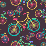 Retro hipster styled different colored parts bicycle  Stock Photos