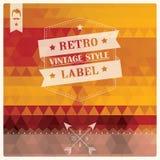 Retro hipsteretikett för tappning, typografi, geometrisk design Fotografering för Bildbyråer