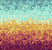 Retro hipsters geometric pattern. Colorful vintage hipsters triangle seamless pattern background. Vector file layered for easy manipulation and custom coloring Stock Images