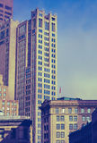 Retro Historic Downtown Boston Stock Images