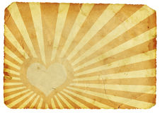 retro hjärta stock illustrationer