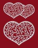 Retro hjärtamodell royaltyfri illustrationer