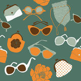 Retro holiday accessories Stock Photography