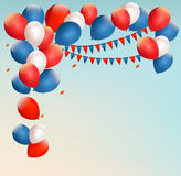 Retro holiday background with colorful balloons. Vector Royalty Free Stock Image