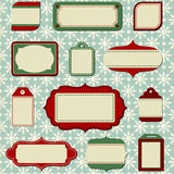 Retro Holiday Labels and Tags Royalty Free Stock Photo
