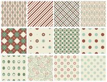 Retro Holiday Patterns Stock Photos