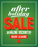 Retro after holiday sale. Royalty Free Stock Images