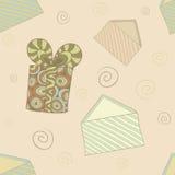 Retro holiday seamless pattern Royalty Free Stock Photo