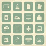 Retro home appliances icons. Vector illustration Stock Photography