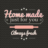 Retro homemade Bakery banner Royalty Free Stock Image