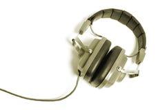 Retro hoofdtelefoons Stock Afbeeldingen