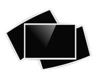 Retro horizontal photo frames Stock Images