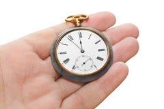 Retro horloge ter beschikking Stock Afbeeldingen