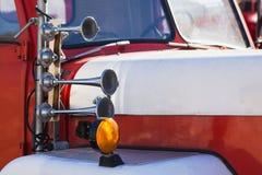 Retro horn för brandlastbil Royaltyfri Bild