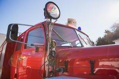Retro horn för brandlastbil Royaltyfri Fotografi