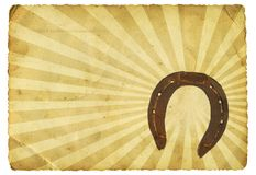 Retro horseshoe Stock Photography