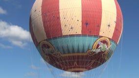 Retro hot air balloon stock video footage