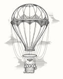Retro hot air balloon sketch Royalty Free Stock Photos