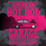 Retro Hot Rod poster Royalty Free Stock Image