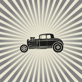 Retro Hot Rod poster Stock Photo