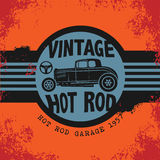 Retro Hot Rod poster Stock Images