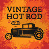 Retro Hot Rod poster Royalty Free Stock Images