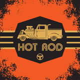 Retro Hot Rod poster. Color illustration Royalty Free Stock Images