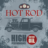 Retro Hot Rod poster Royalty Free Stock Photography
