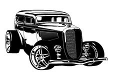 Retro Hotrod. Available EPS-8 vector format separated by groups and layers for easy edit Royalty Free Stock Images