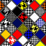 Retro hounds-tooths diagonal pattern Royalty Free Stock Images