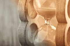 Retro hourglass background Royalty Free Stock Images