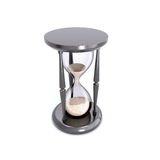 Retro hourglass counting down the time. Stock Image