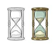Retro hourglass. Vector vintage engraving vector illustration